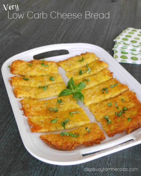Very Low Carb Cheese Bread - 1g net carb per serving! Keto, gluten free, and LCHF recipe.