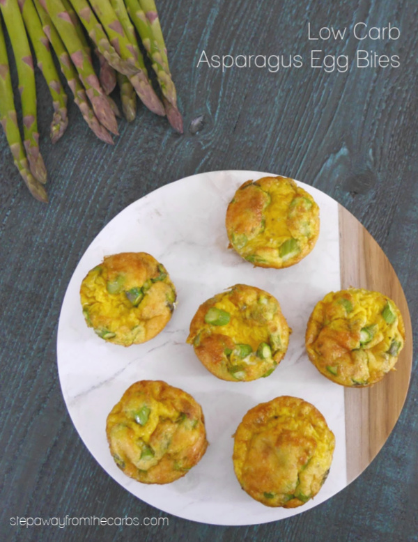 Low Carb Asparagus Egg Bites - great for snacking! Keto and gluten free recipe.