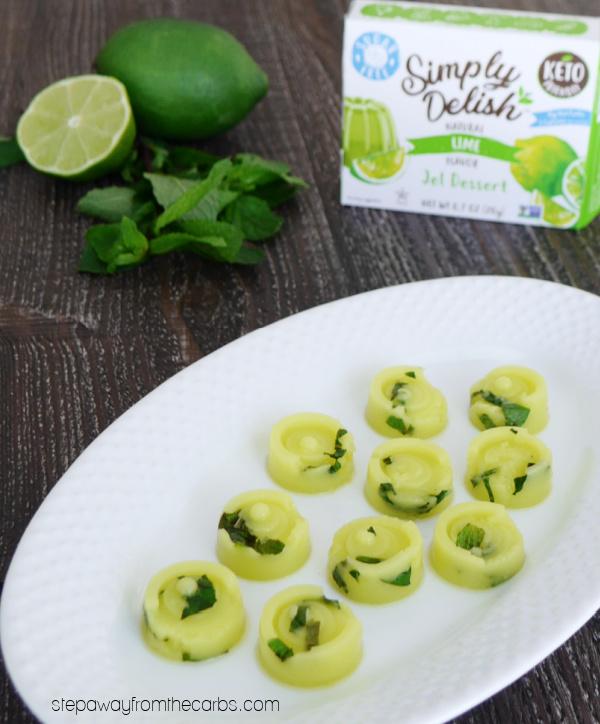 Mojito Jello Bites with Simply Delish jel dessert