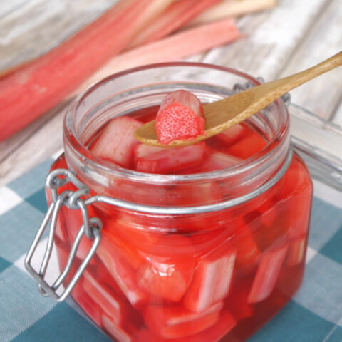 Low Carb Pickled Rhubarb