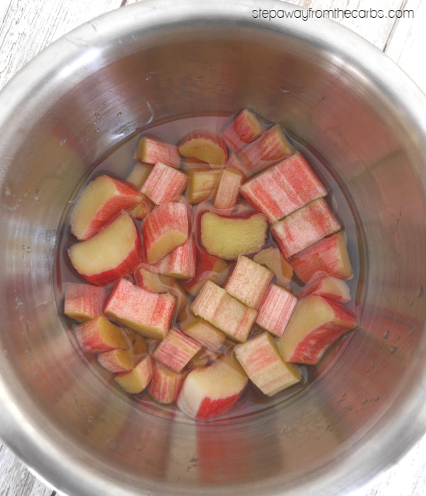 Low Carb Rhubarb Jam - a tangy sugar free condiment!