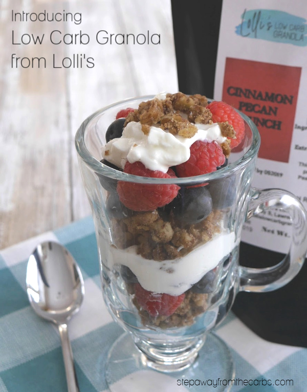 Introducing Low Carb Granola from Lolli's: 1-2g net carbs per serving. Sugar free and gluten free.