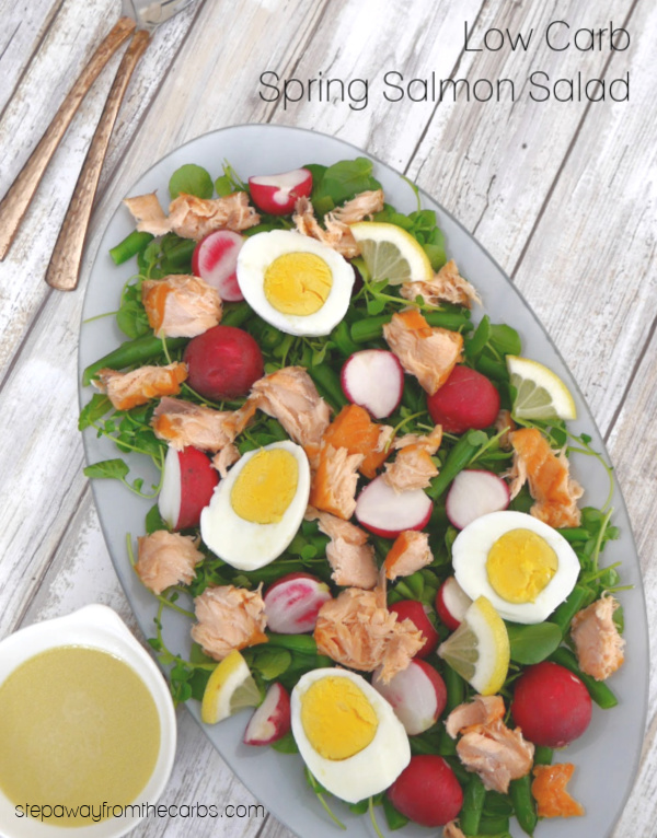 Low Carb Spring Salmon Salad - a fantastic combination of flavors and colors!