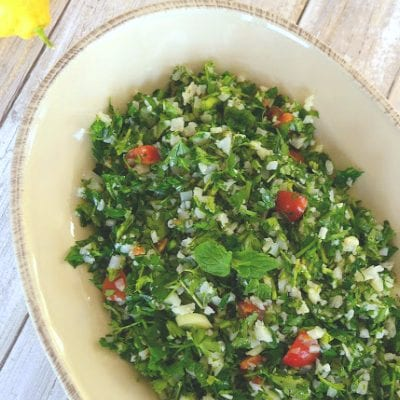 Low Carb Tabbouleh with Cauliflower Rice