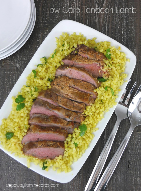 Low Carb Tandoori Lamb - served with turmeric cauliflower rice
