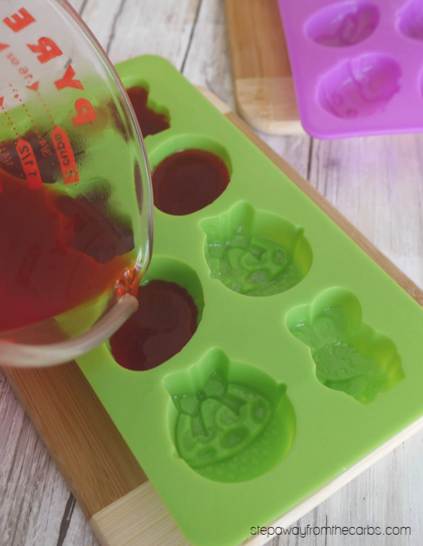 Sugar Free Easter Jello Treats - low carb sweet snacks for the whole family to enjoy!