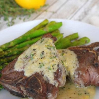 Lamb Chops with Lemon and Thyme Cream