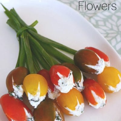 Low Carb Cherry Tomato Flowers