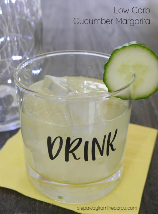 Low Carb Cucumber Margarita - a delicious and refreshing sugar free and keto cocktail!