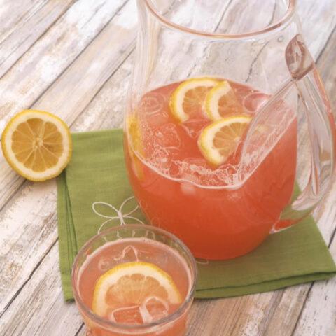 Low Carb Rhubarb Lemonade