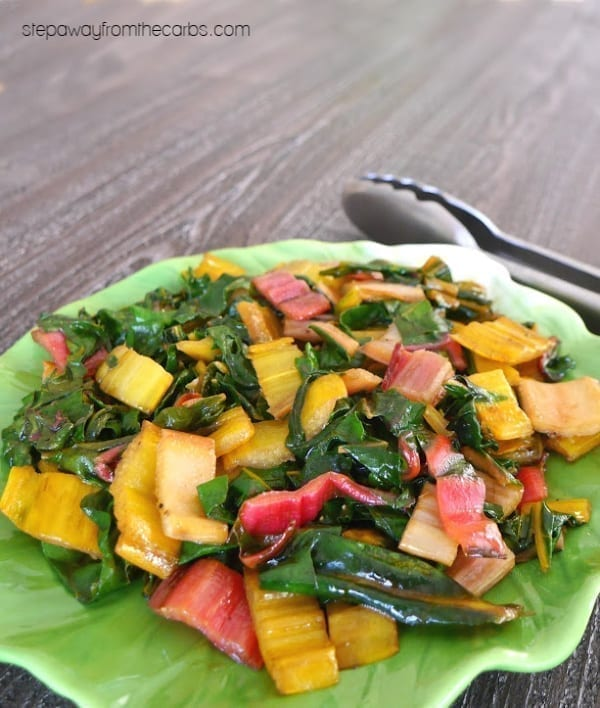 Sautéed Rainbow Chard - a delicious and colorful low carb and keto side dish recipe