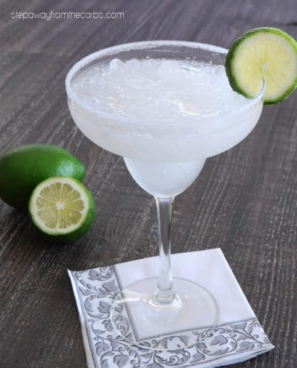Low Carb Frozen Margarita - sugar free cocktail recipe