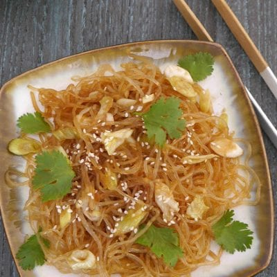 Low Carb Sesame Noodles