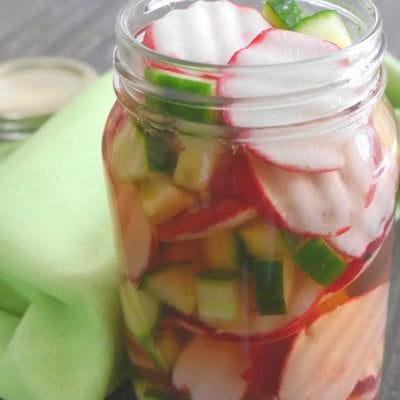 Pickled Radish and Cucumber Salad