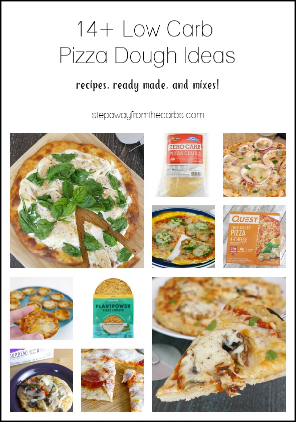 14+ Low Carb Pizza Dough Ideas! Includes the best recipes, ready made, and mixes!