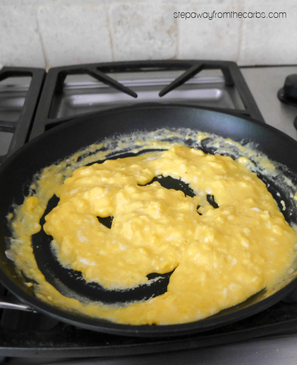 Cheesy Scrambled Eggs - perfect for a low carb and keto breakfast or lunch!