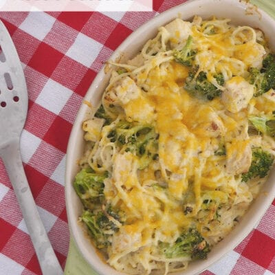 Low Carb Cheesy Chicken Noodle Casserole