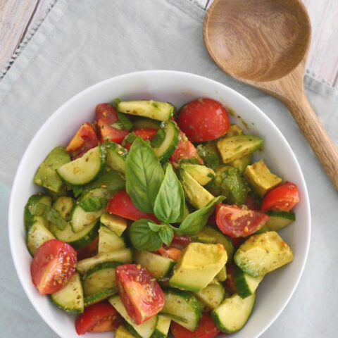 Low Carb Cucumber, Tomato and Avocado Salad
