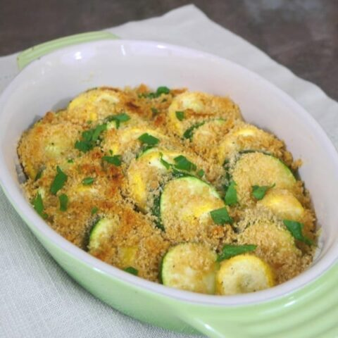 Low Carb Summer Squash Gratin