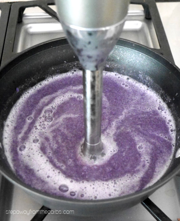 Low Carb Purple Cauliflower Soup - no food dye added! A delicious recipe that your friends and family will love!