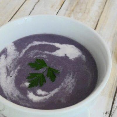 Low Carb Purple Cauliflower Soup