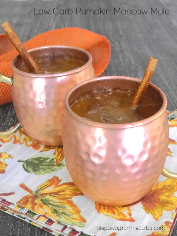 Low Carb Pumpkin Moscow Mule - an autumnal sugar free and keto friendly cocktail!