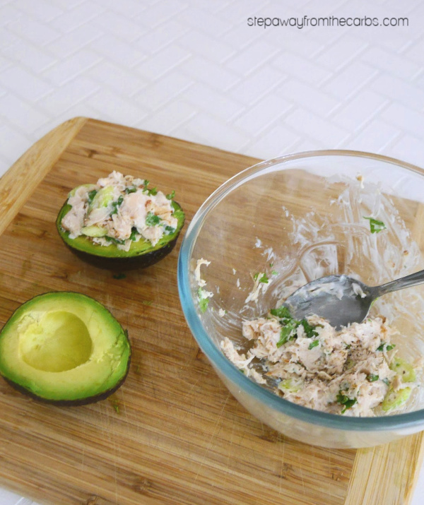 Low Carb Chicken Stuffed Avocado - a quick and easy keto lunch for one!
