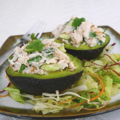 Low Carb Chicken Stuffed Avocados