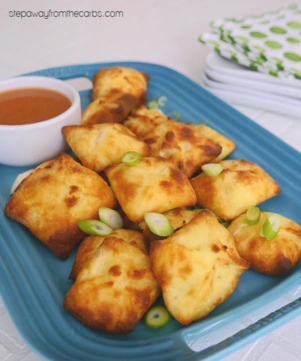 Low Carb Crab Rangoon - my version of the American Chinese popular appetizer! Made with Fathead dough.