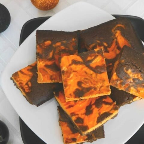 Low Carb Halloween Brownies