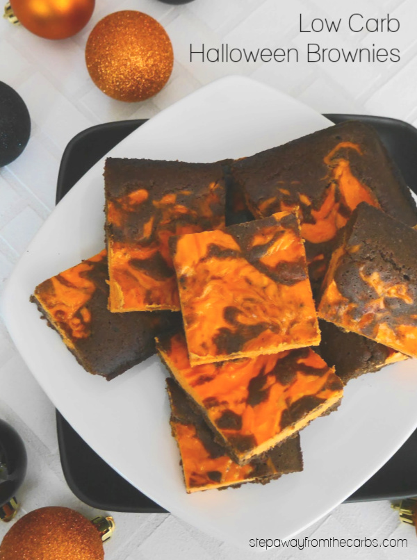 Low Carb Halloween Brownies - a tasty treat for the whole family! Low carb and keto recipe.