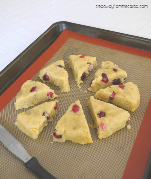 Low Carb Scones with Cranberry and Orange - a gluten free and sugar free recipe inspired by the Easy Keto Cookbook!
