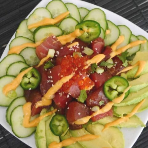 Low Carb Tuna Poke