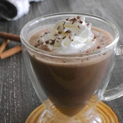 Low Carb Frozen Gingerbread Hot Chocolate