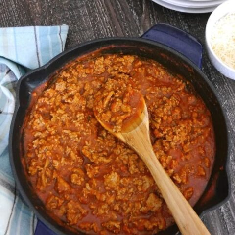 Low Carb Turkey Meat Sauce