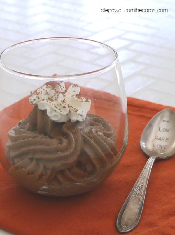 Keto Chocolate Mousse - a decadent three ingredient dessert! Sugar free and low carb recipe.
