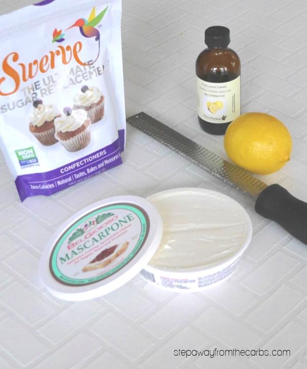 Keto Lemon Mascarpone Dessert - a nearly zero carb sweet treat!