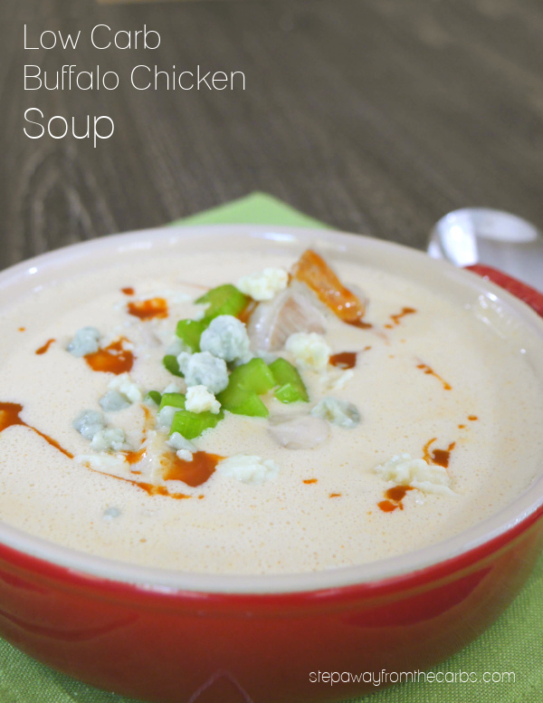 Low Carb Buffalo Chicken Soup - a comforting and spicy recipe for a cold day!