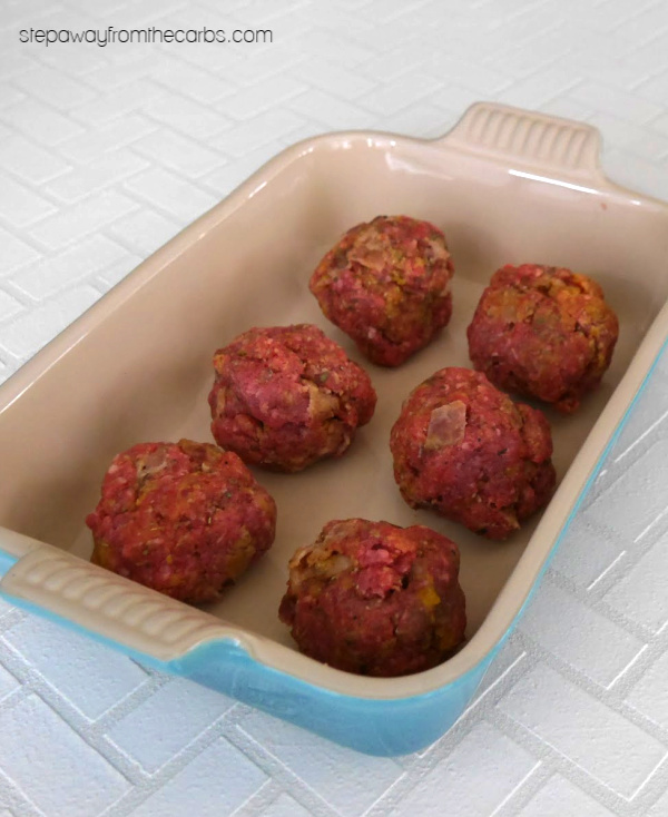 Low Carb Giant Meatballs - gluten free and keto friendly! Perfect for family meals.