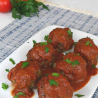 Low Carb Giant Meatballs