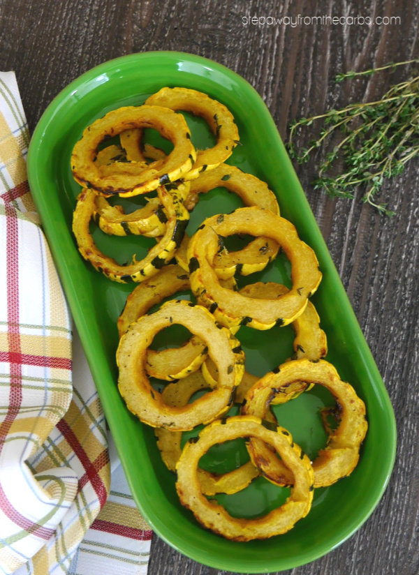 Low Carb Maple Delicata Squash - a delicious side dish recipe for the fall and winter