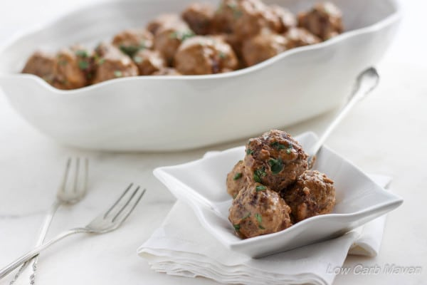 Swedish Meatballs from Low Carb Maven