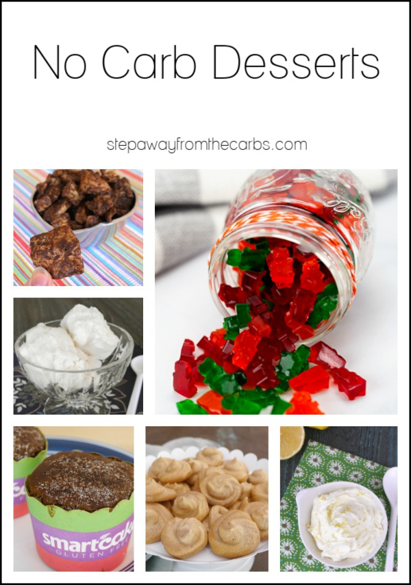 No Carb Desserts - sweet treats without the sugar or carbohydrates!