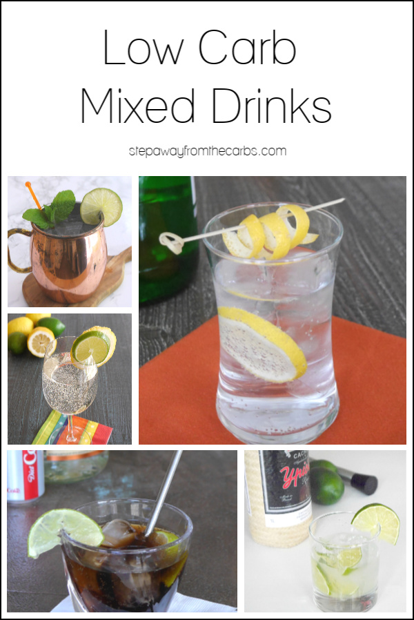 Low Carb Mixed Drinks - a guide to the best options when following a low carb diet!