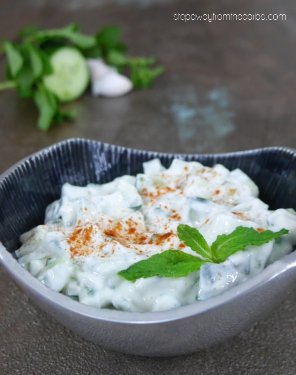 Low Carb Raita with Cucumber and Mint - a classic Indian condiment