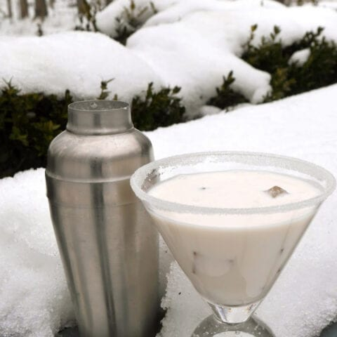 Low Carb Snowflake Cocktail
