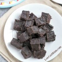 Heavenly Cream Cheese Dark Chocolate Keto Fudge