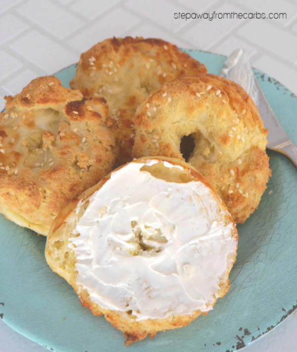 Fathead Dough Bagels - recipe by Kimspired DIY