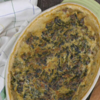 Low Carb Beef Florentine Casserole