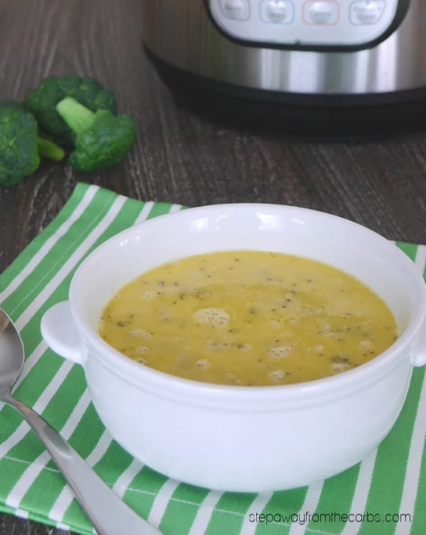 Low Carb Broccoli Cheese Soup - made in the Instant Pot! Super easy recipe.
